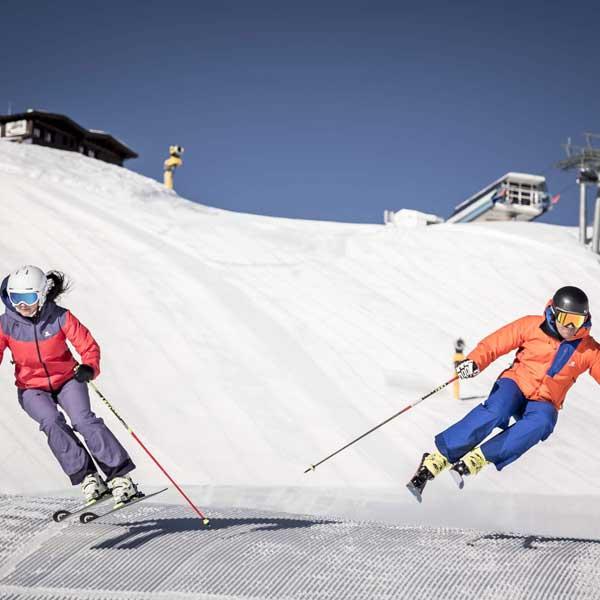 Spaß beim Skifahren - Sölden, Tirol
