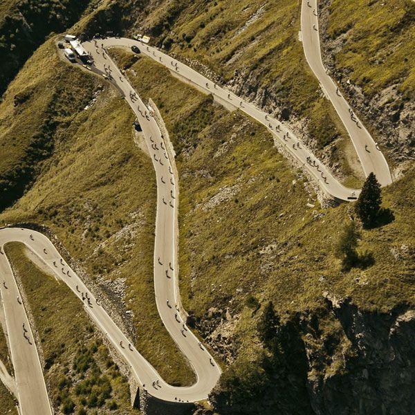 Ameisenrennen beim Ötztaler Radmarathon in Sölden, Tirol