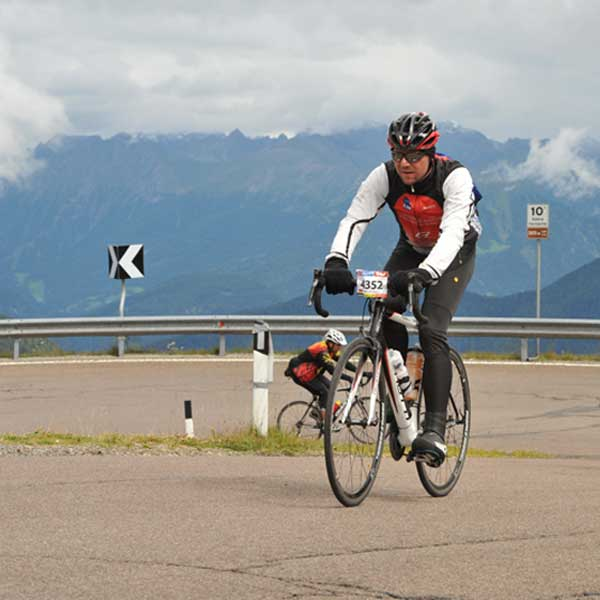 Markus Scheuermann auf dem Weg Richtung Jaufenpass