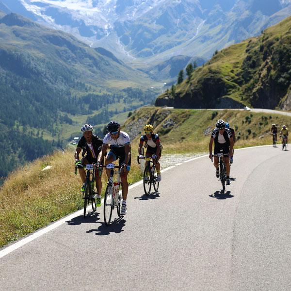 Bergpassage beim Ötztaler Radmarathon in Sölden