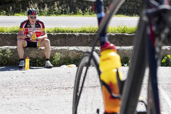 Pause beim Ötztaler Radmarathon