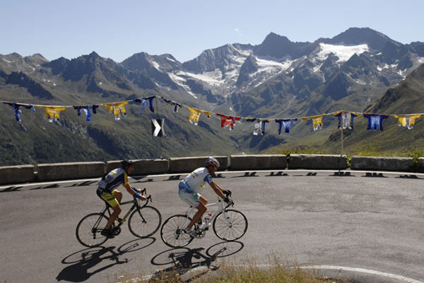 Schöne Aussicht beim Ötztaler Radmarathon in Sölden