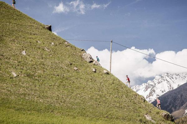 Berglauf beim Transalpine-Run 2016 in Sölden, Tirol