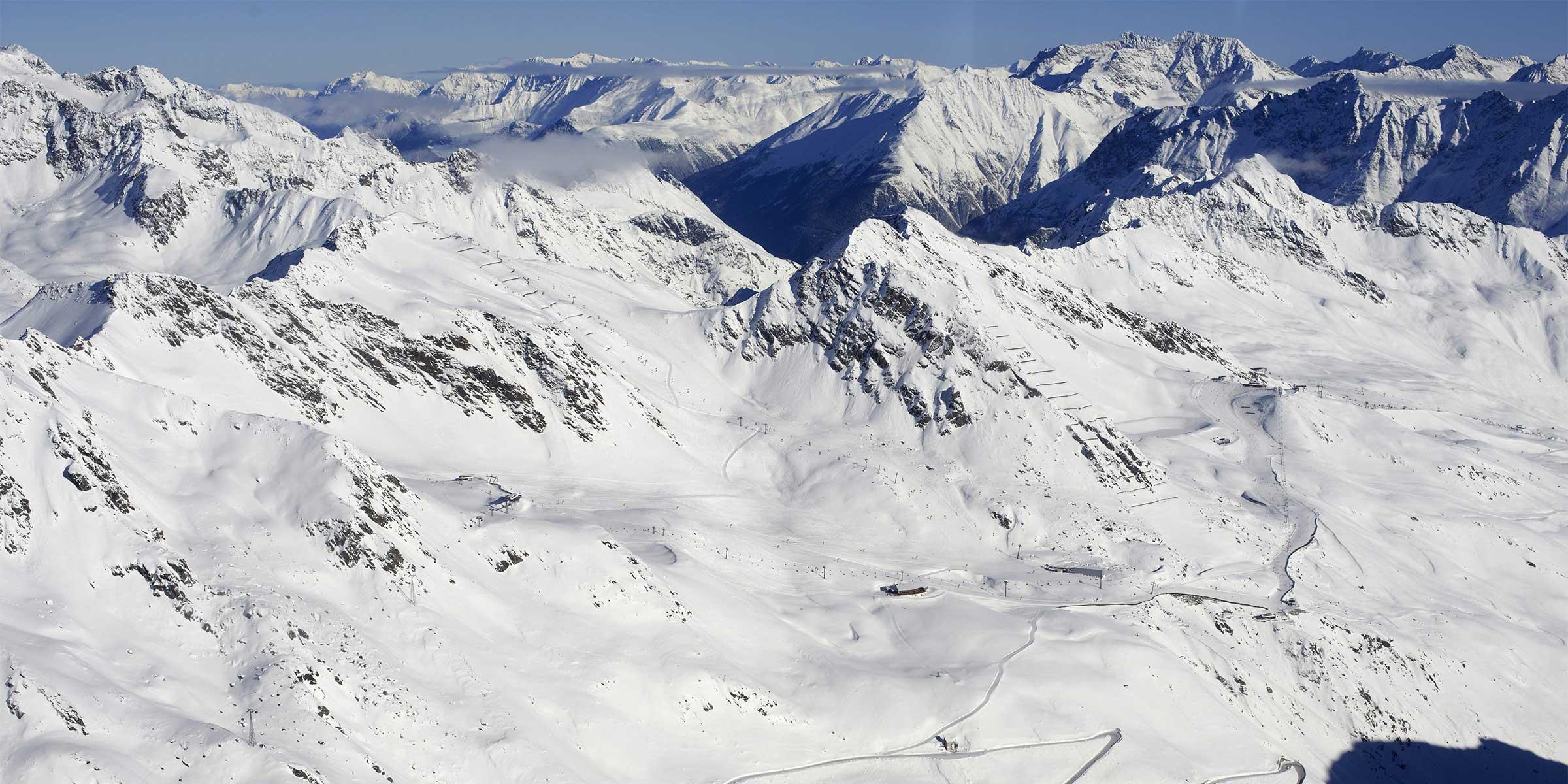 Gletscherskilauf im Herbst