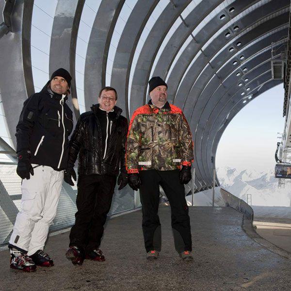 Die Schirmherren der neuen Giggijochbahn bei der Eröffnung der Gaislachkoglbahn in der Saison 2010/11