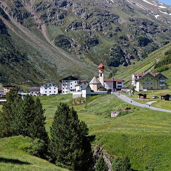 Ortsbild Vent im Sommer - Ötztal, Tirol
