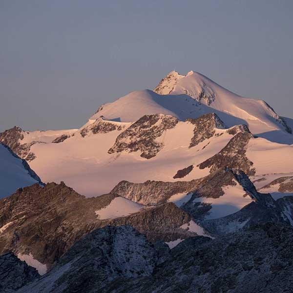 Wildspitze bei Sonnenuntergang - Ötztal, Tirol