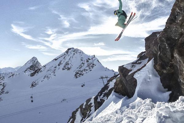 Freestyle am Gletscher in Sölden