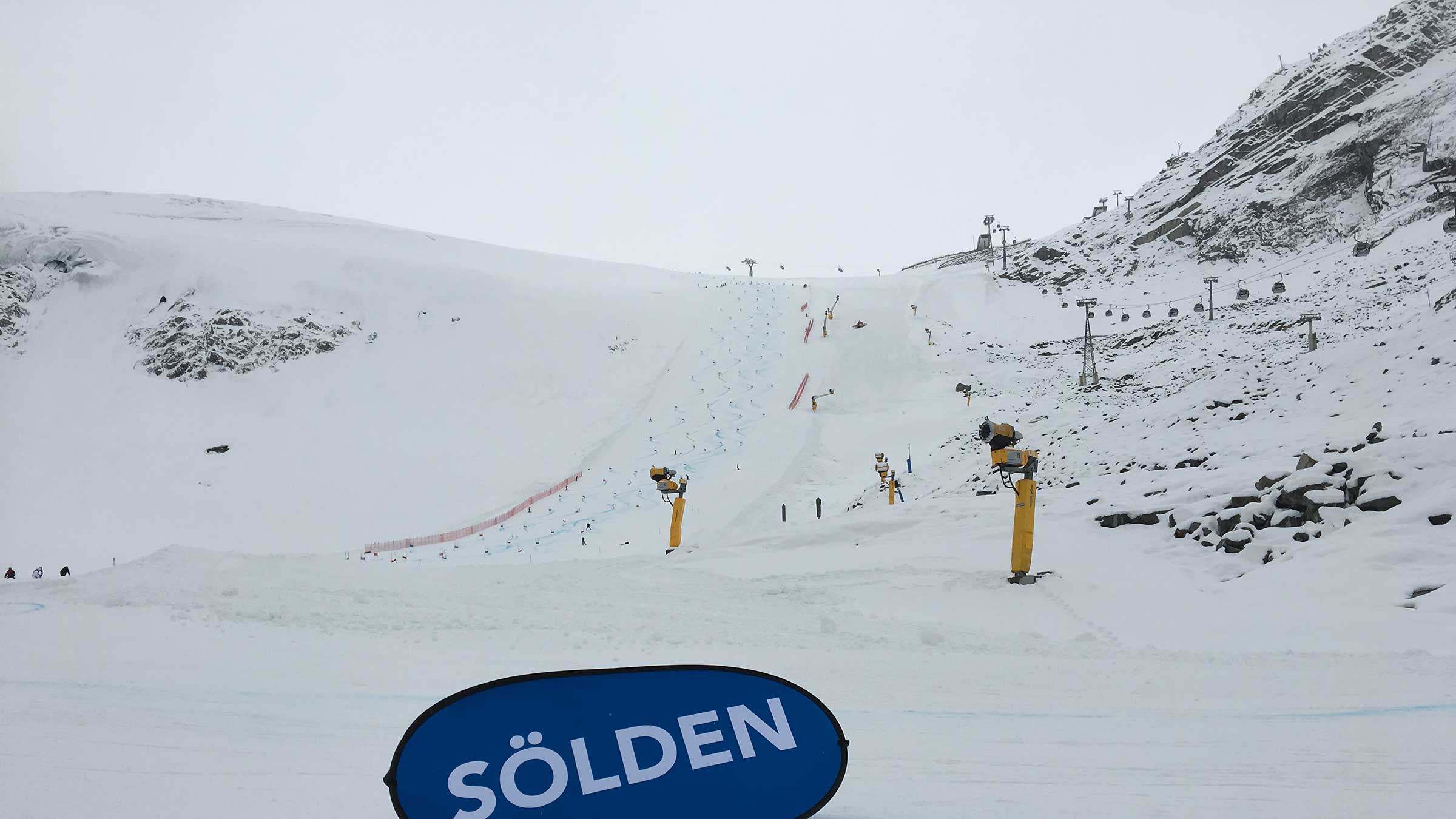 Training der Ski-Stars in Sölden