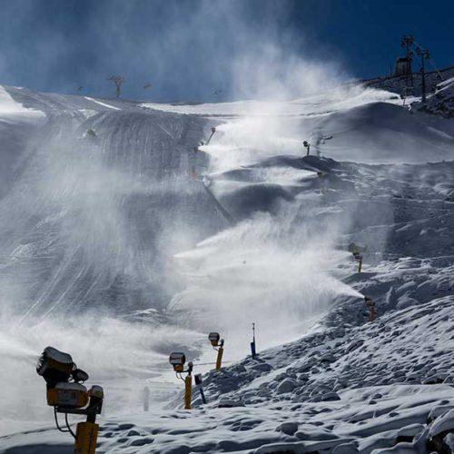 Snow cannons in full effect - Sölden, Ötztal, Tyrol