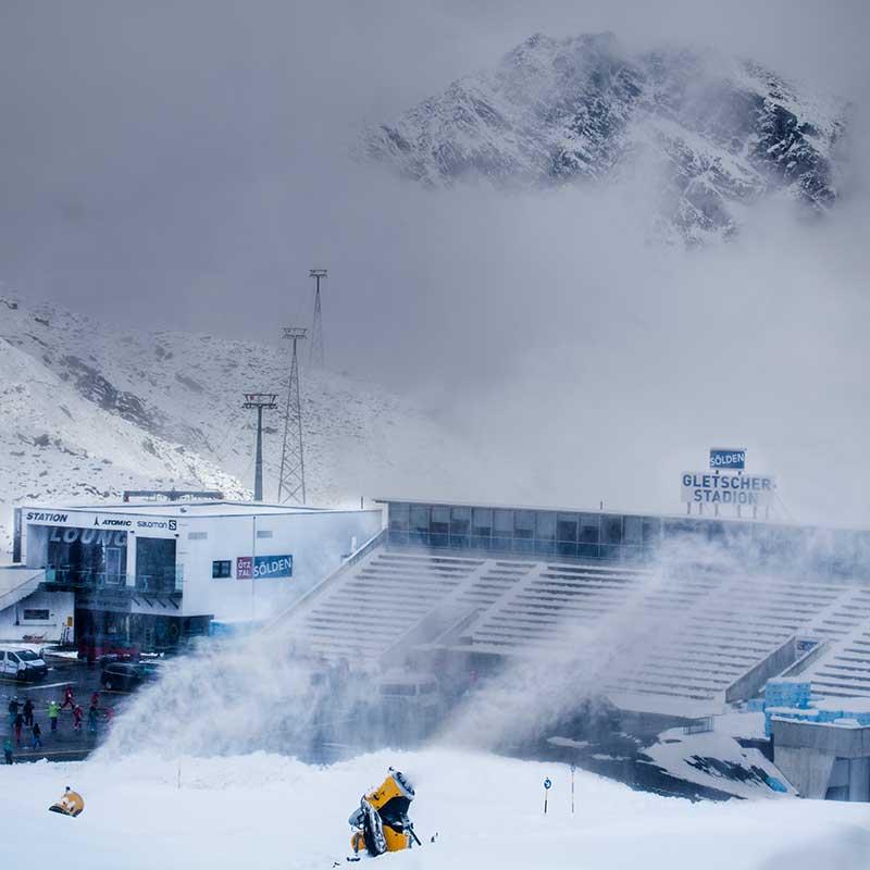 Mythic mood at the glacier stadion - Sölden, Ötztal, Tyrol