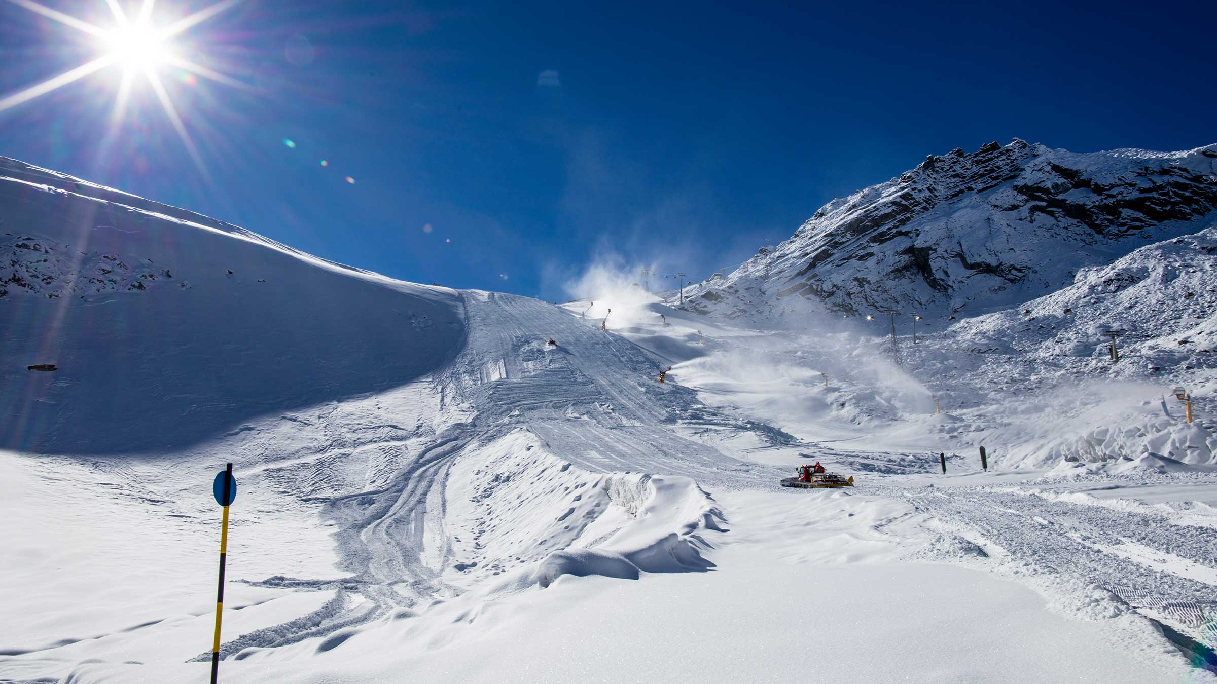 Weltcup Hang einen Tag vor der Abnahme - Sölden, Ötztal, Tirol