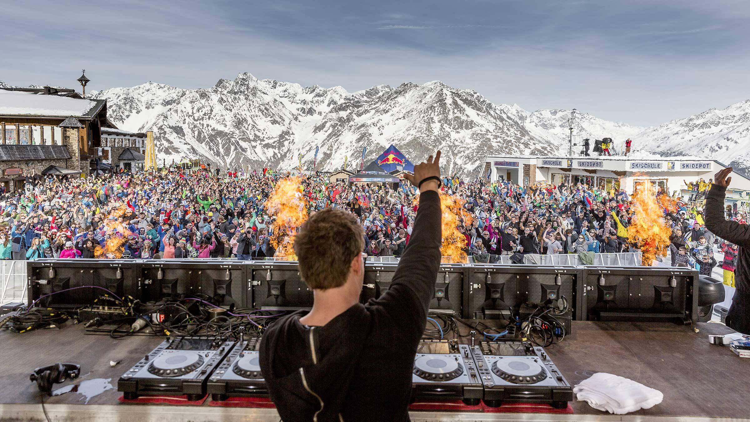 Top DJ Acts bei den Electric Mountain Partys