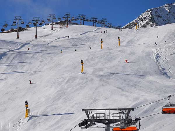 Skipiste in Sölden, Tirol, Ötztal