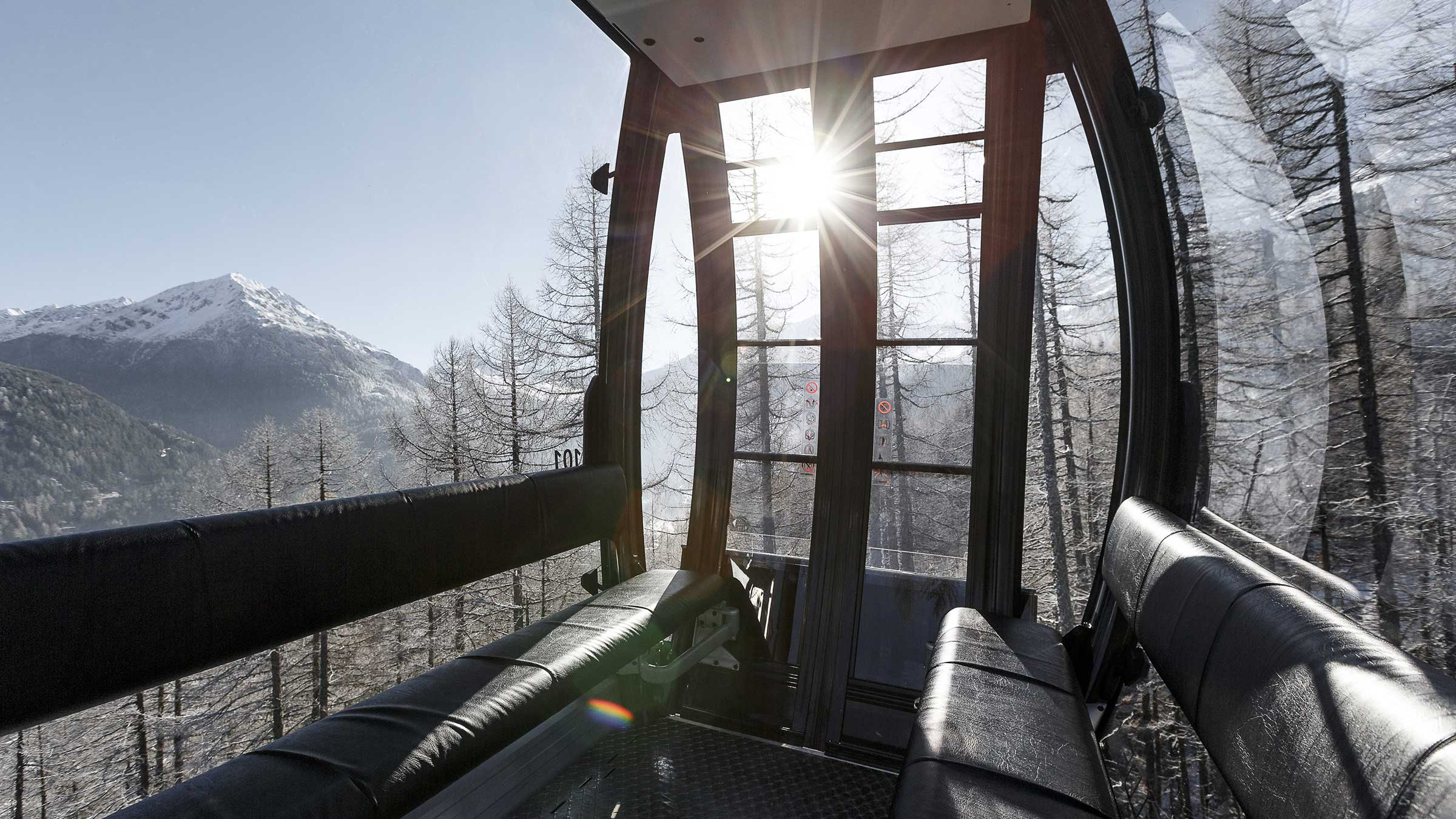 Kabine Giggijochbahn - EMF Pre-Silvester Party Sölden