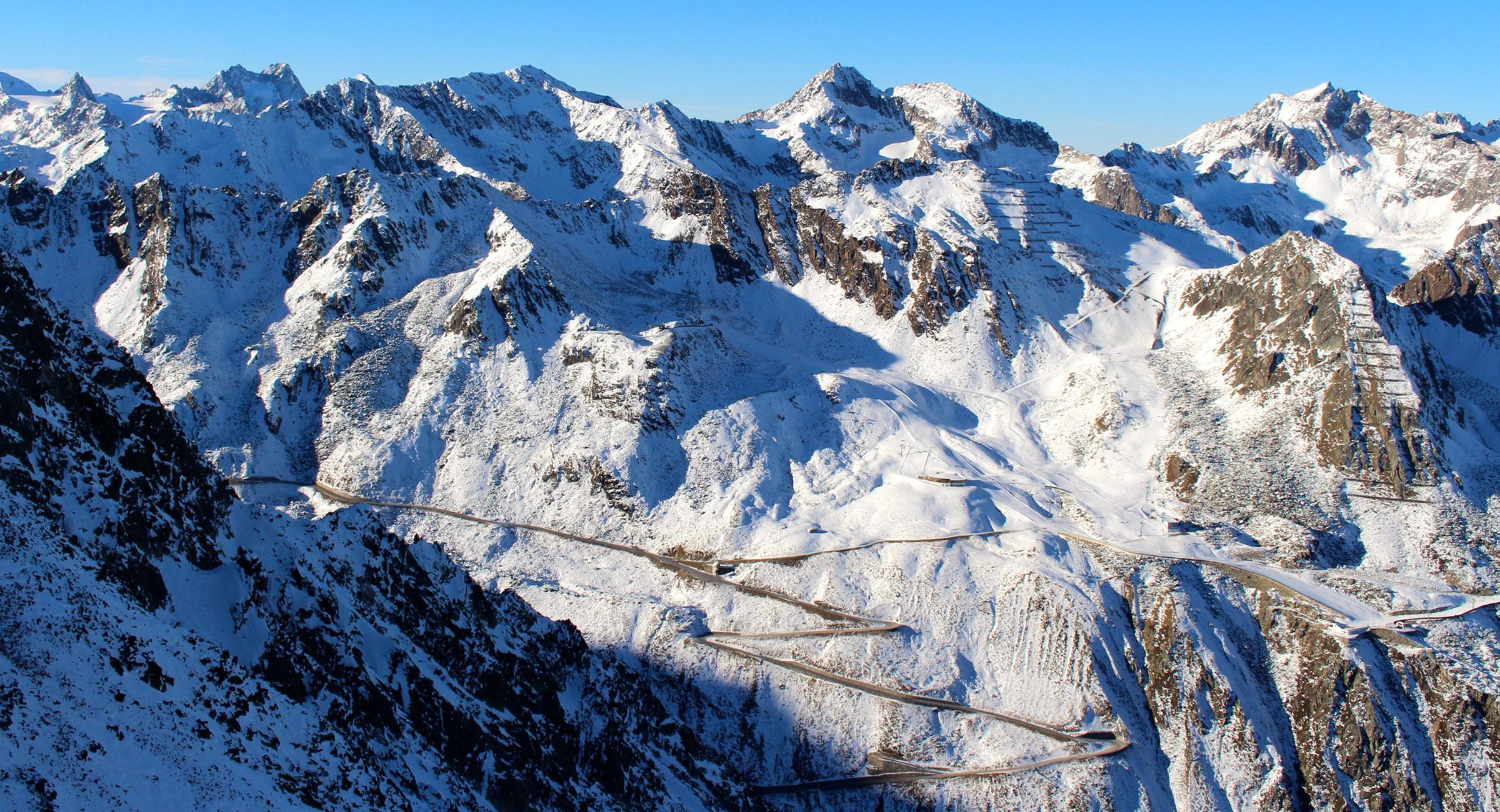 Gletscherstraße in Sölden