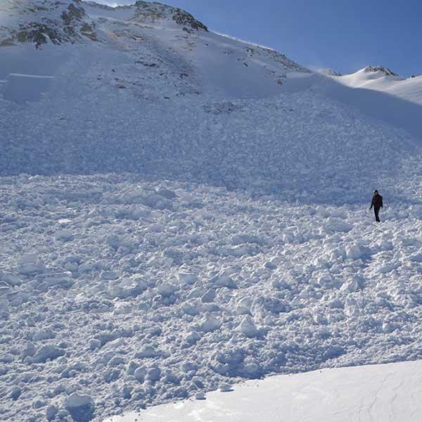 Lawinenabgang - Sicherung Skigebiet Sölden