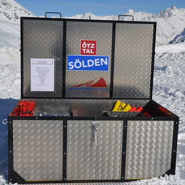 Lawinenkiste - Sicherung Skigebiet Sölden