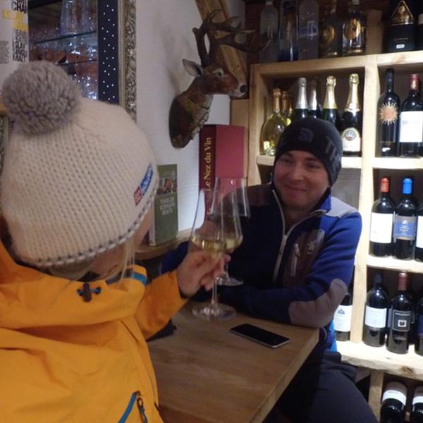 Weinverkostung bei Planggers in Sölden