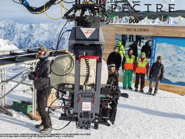 Specter-Crew an der Mittelstation am Gaislachkogl