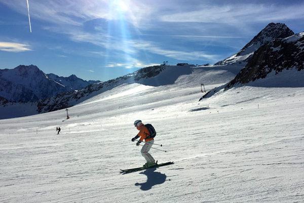 piste #38 at the Tiefenbach Glacier