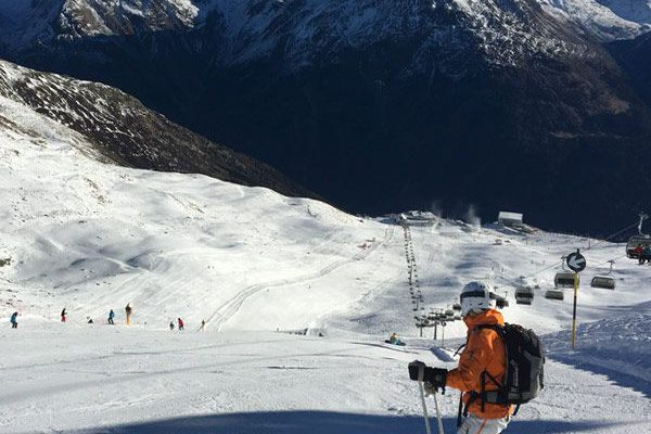A look at the black piste #14 at the Giggijoch