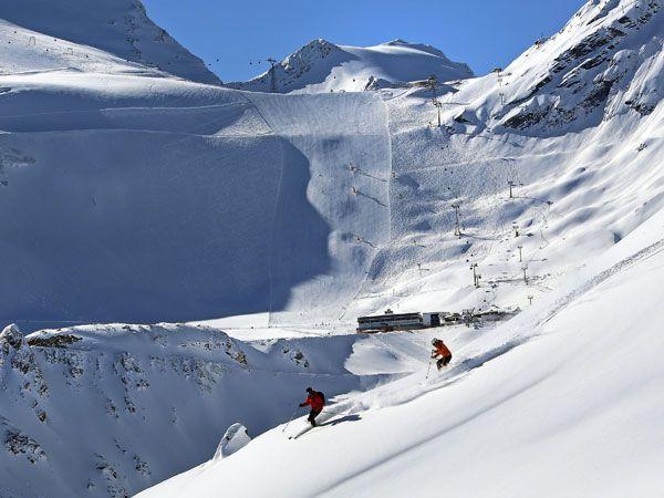 Gletscher-Skifahren in Sölden, Tirol