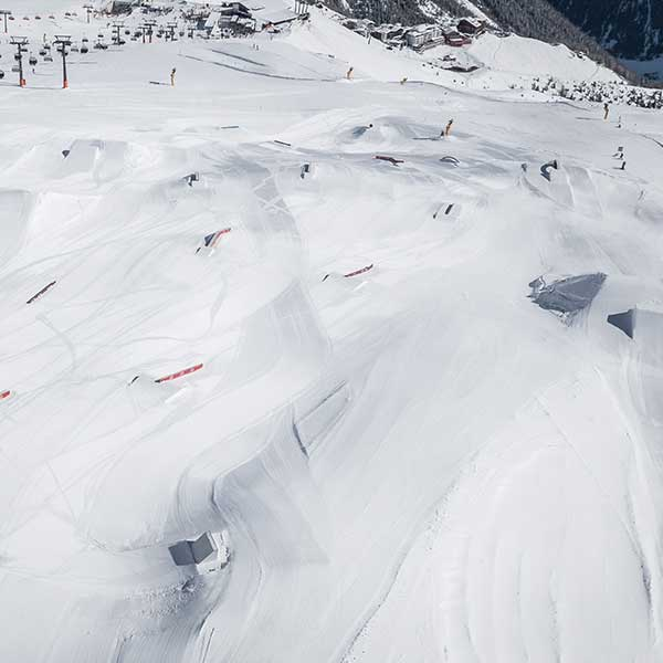 Überblick Snowpark - AREA 47 Snowpark Sölden