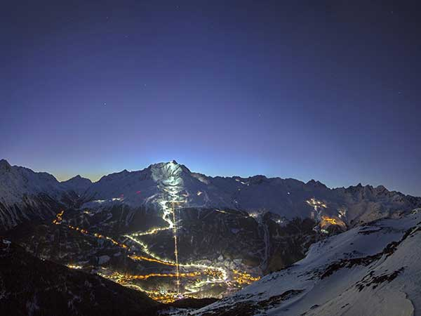 Night Ski Show und Nachtskilauf Sölden