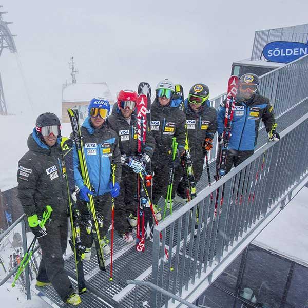 US Ski Team am Gaislachkogl - Ski WM St Moritz US Ski Team in Sölden