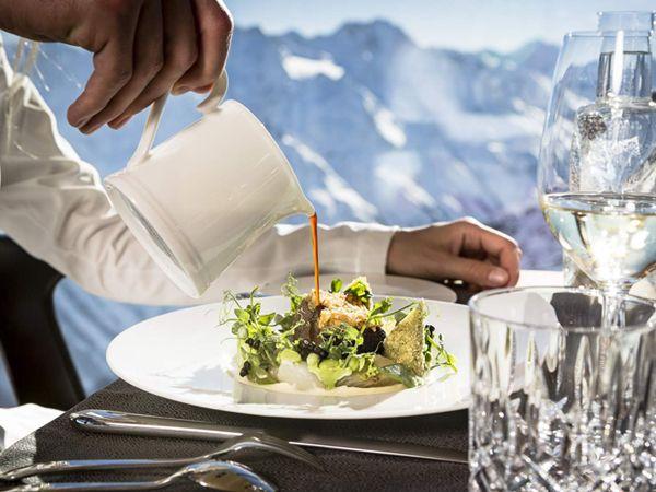 Gourmet-Ausblick am iceQ