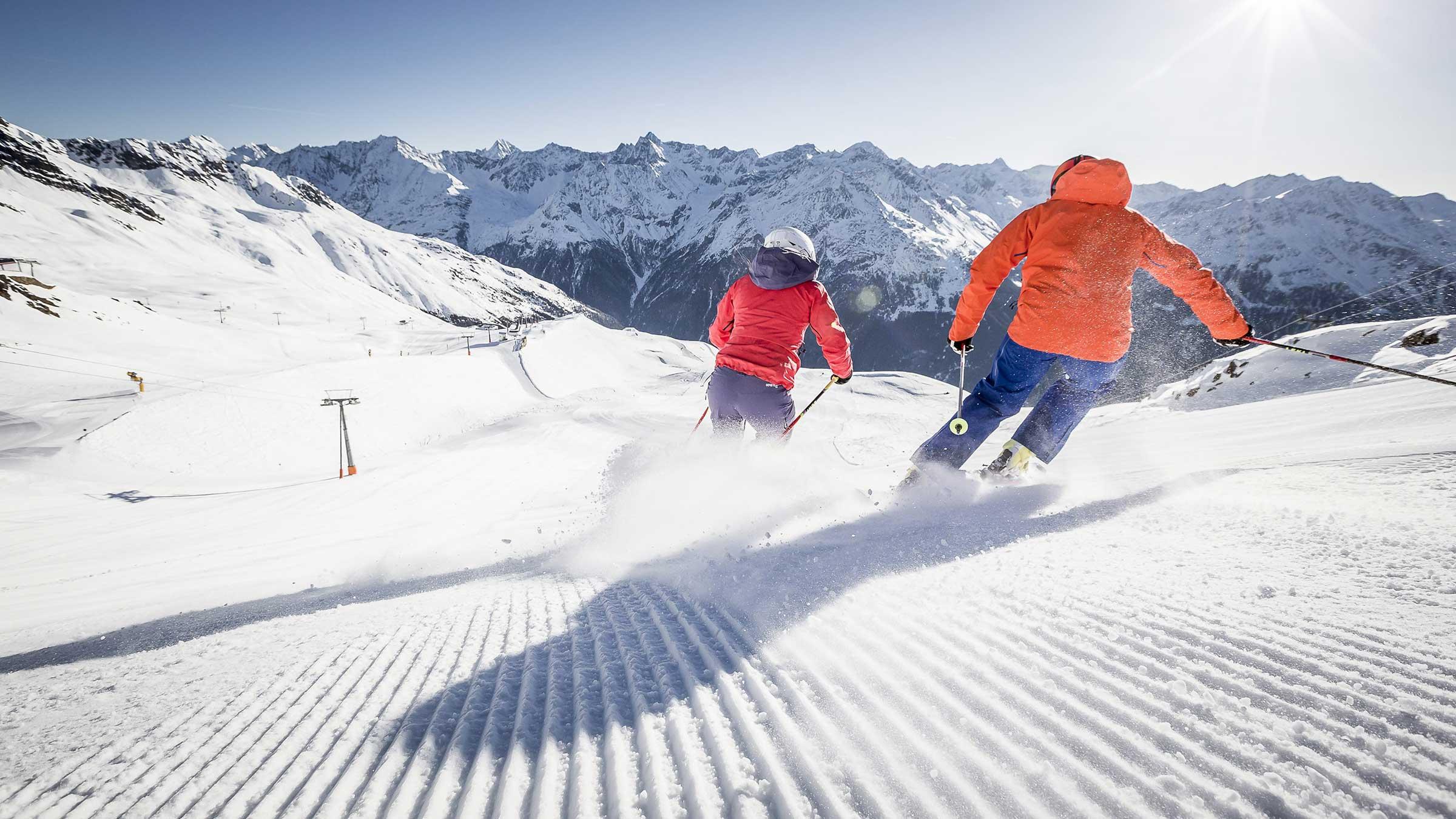 Skifahrer Sölden - Electric Mountain Festival