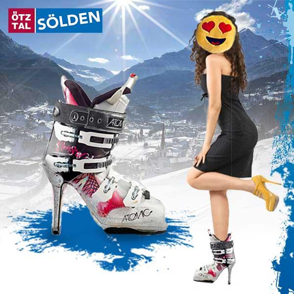 Der neue Stöckl-Skischuh - Sölden Skischuhverbot