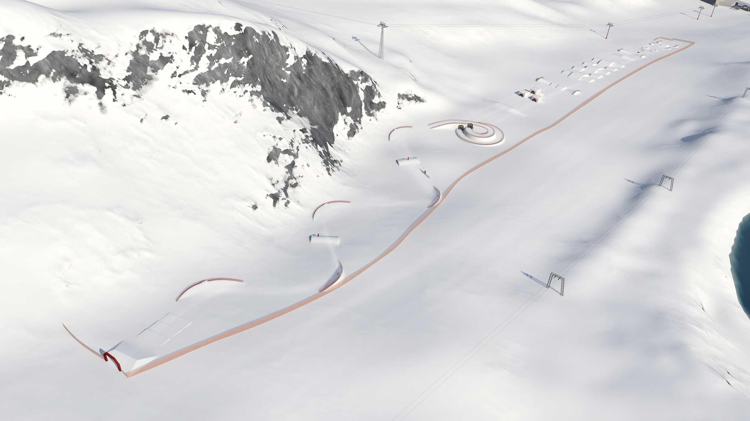 Visualisierung Funslope-Teststrecke - Winterfinale Wake Testival