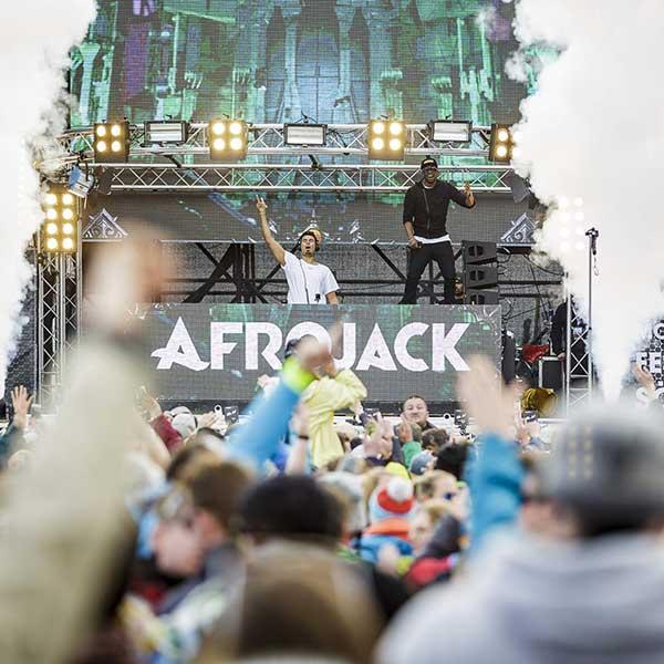 AFROJACK on stage - Electric Mountain Festival Sölden