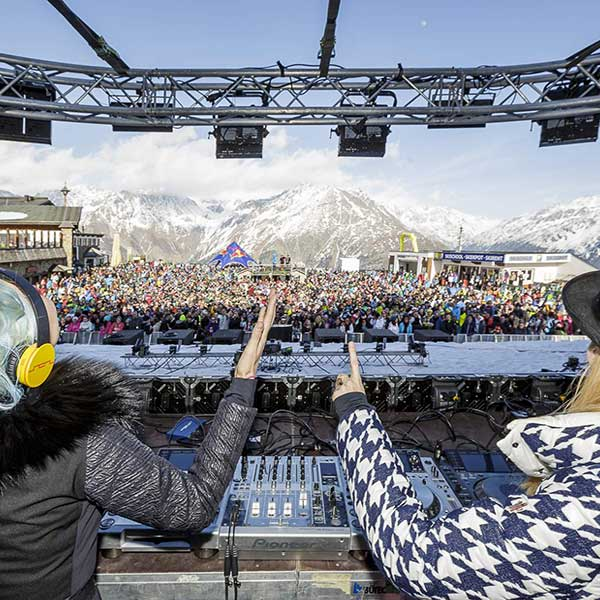 NERVO on stage - Electric Mountain Festival Sölden