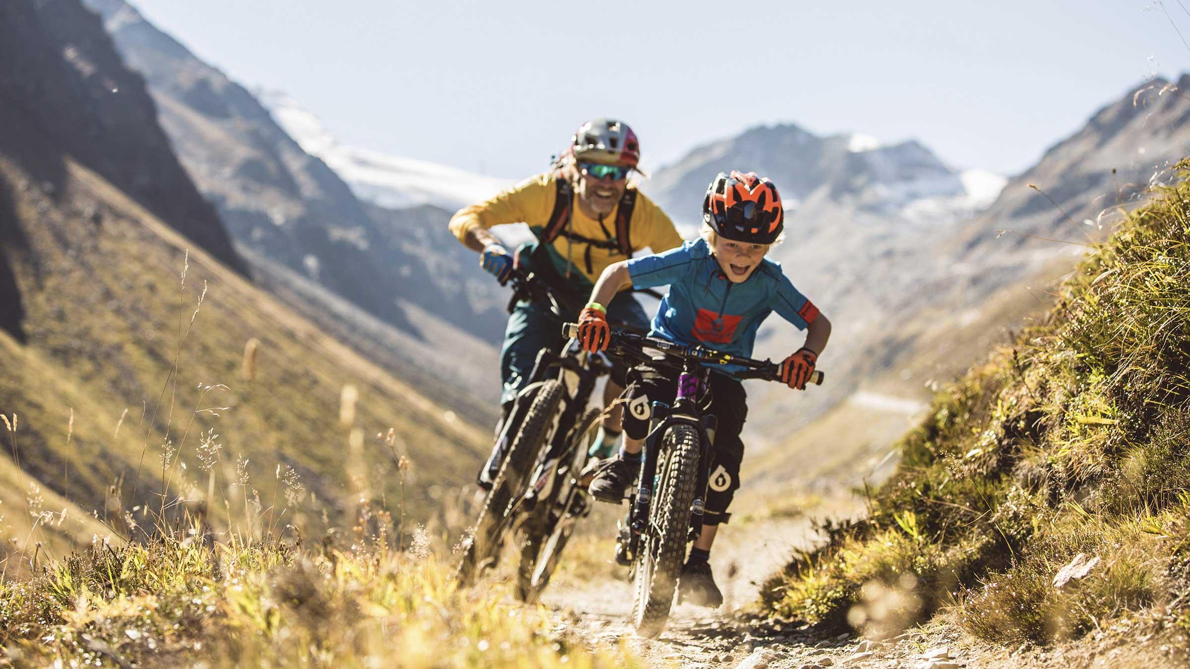 Unterwegs am Rettenbachalm Trail - Bike Republic Sölden