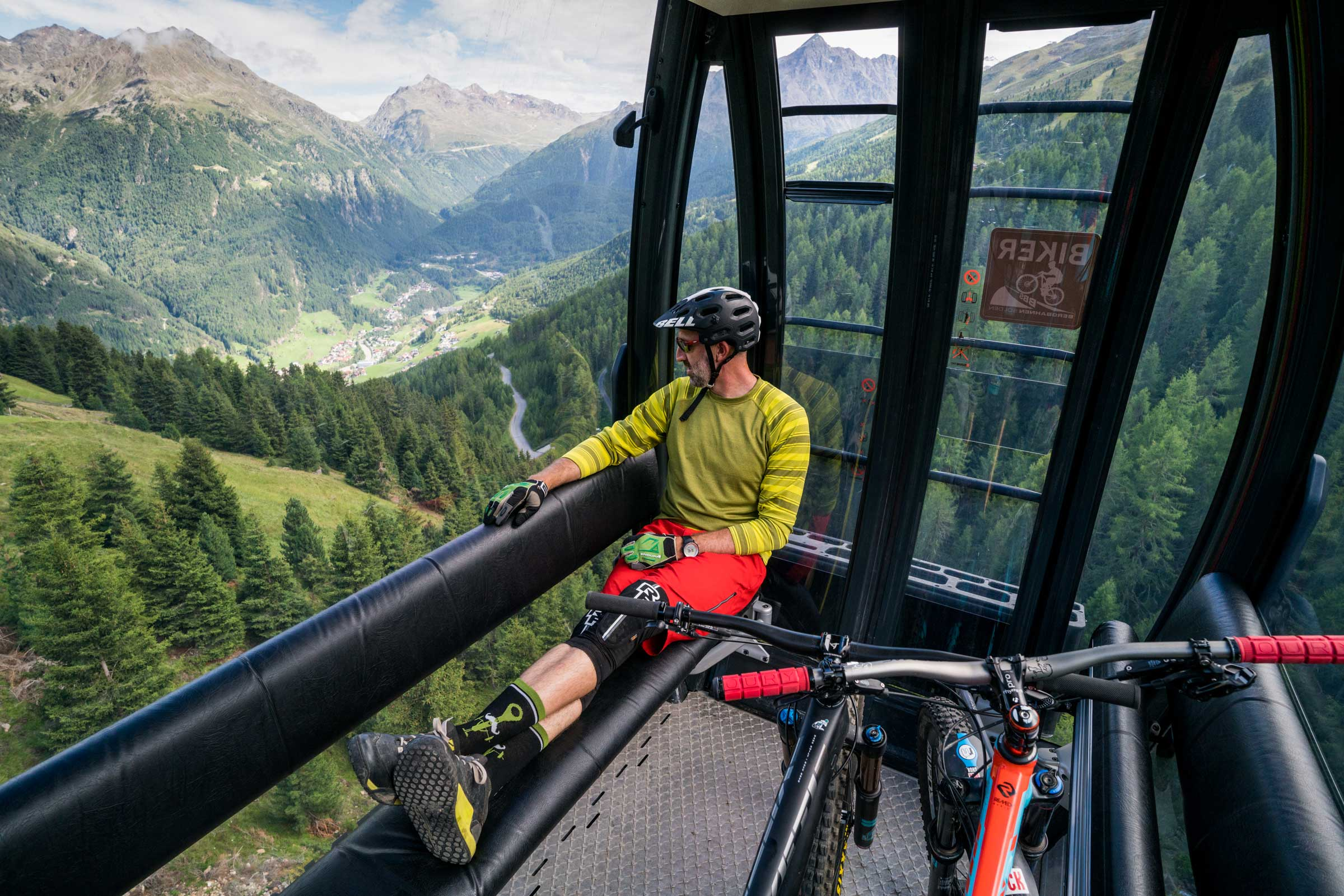 Biker Giggijochbahn - Flow Trails Bike Republic Sölden