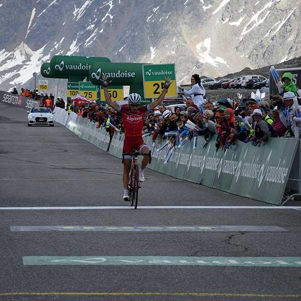 Zielankunft Tour de Suisse Simon Spilak - Ötztaler Radmarathon Pro Ötztaler 5.500