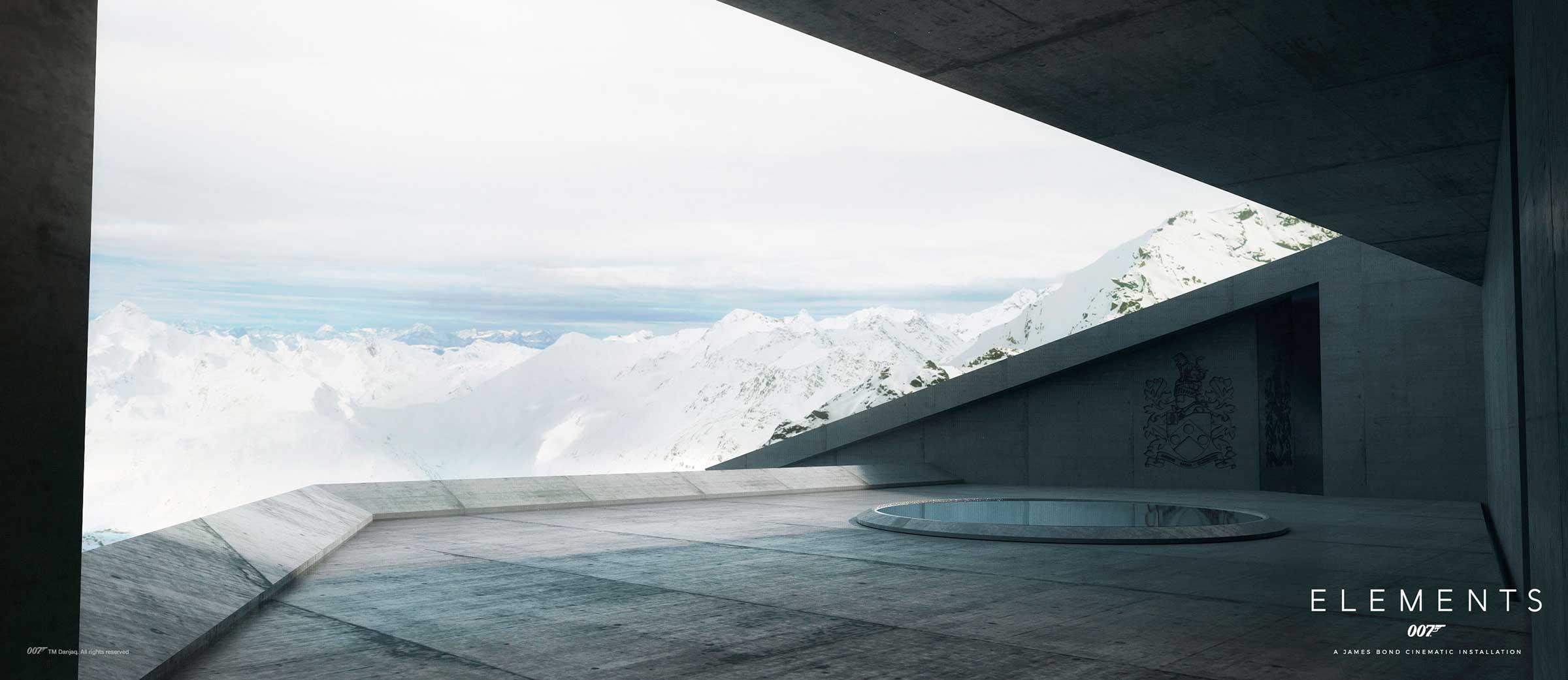 007 Elements Rendering mit James Bond Familienwappen - 007 Elements Sölden