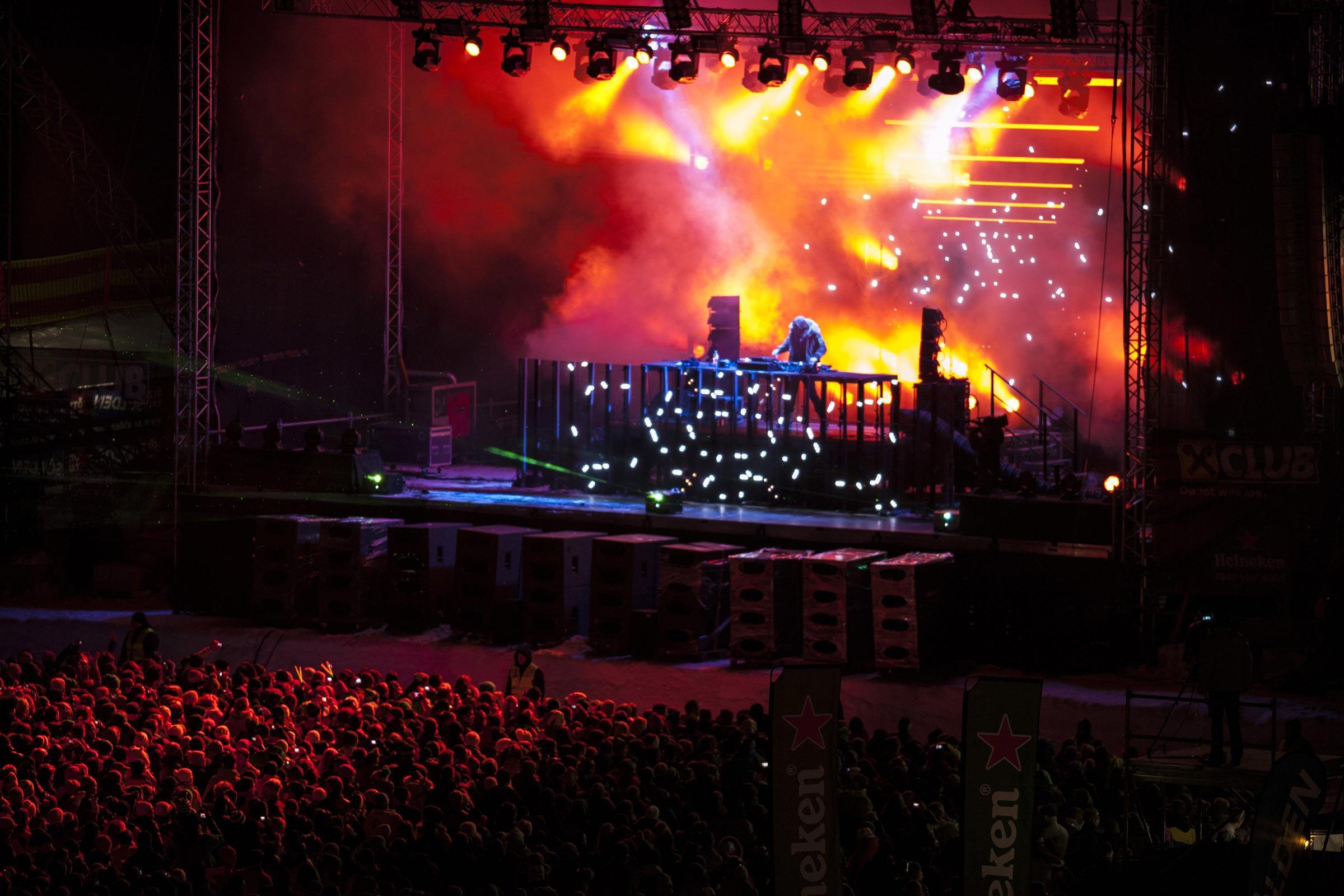 David Guetta beim Electric Mountain Festival - Skigebiet Sölden