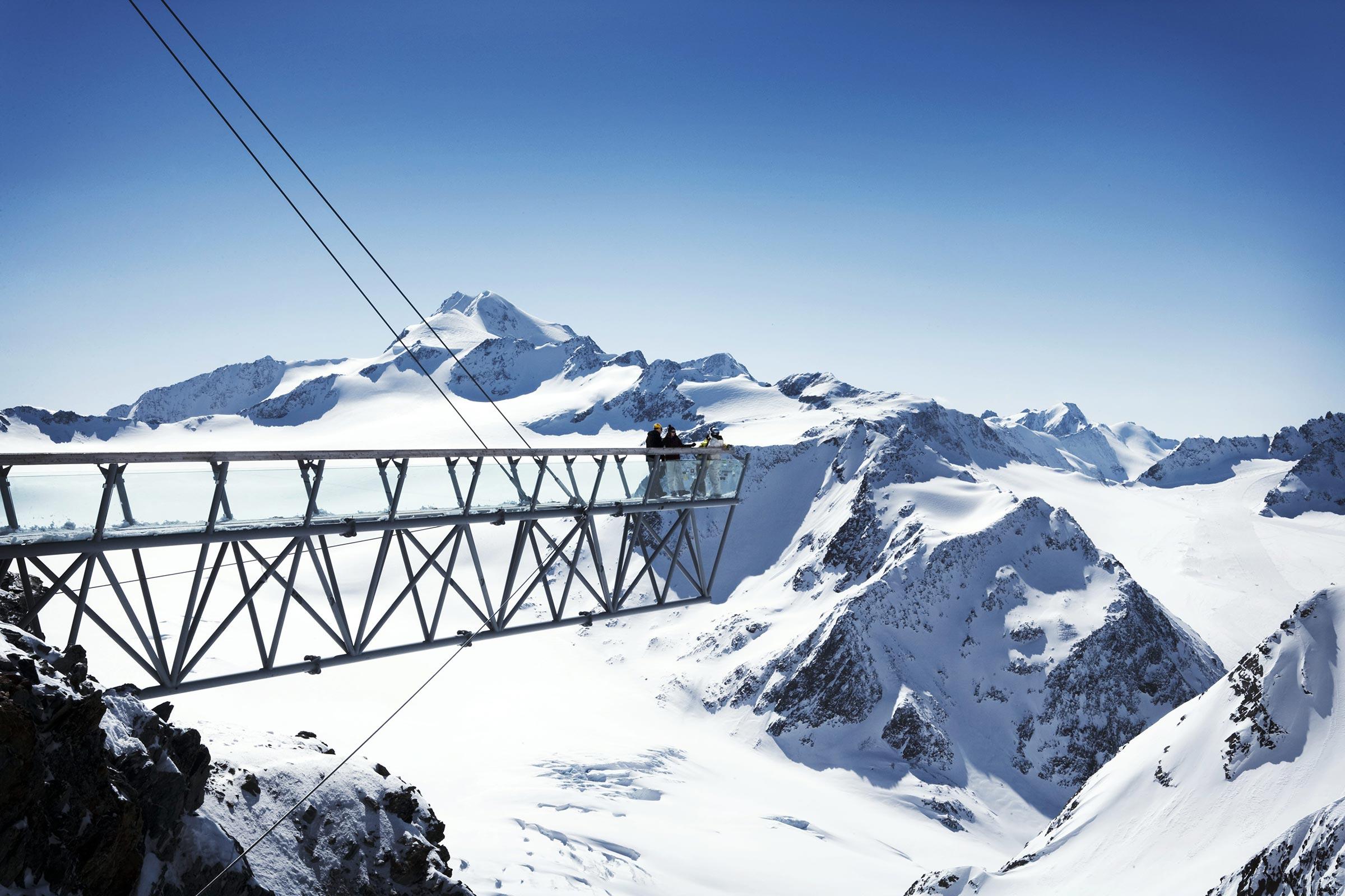Steg Tiefenbachkogl - Skigebiet Sölden