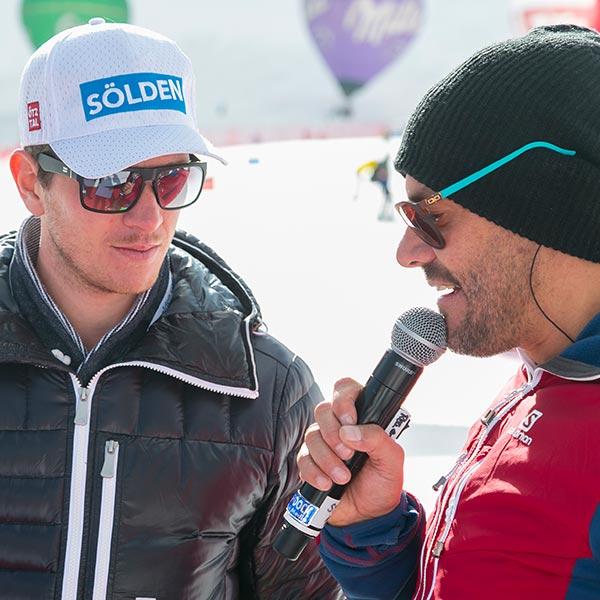 Stefan Steinacher mit Florian Scheiber - Skiweltcup Sölden