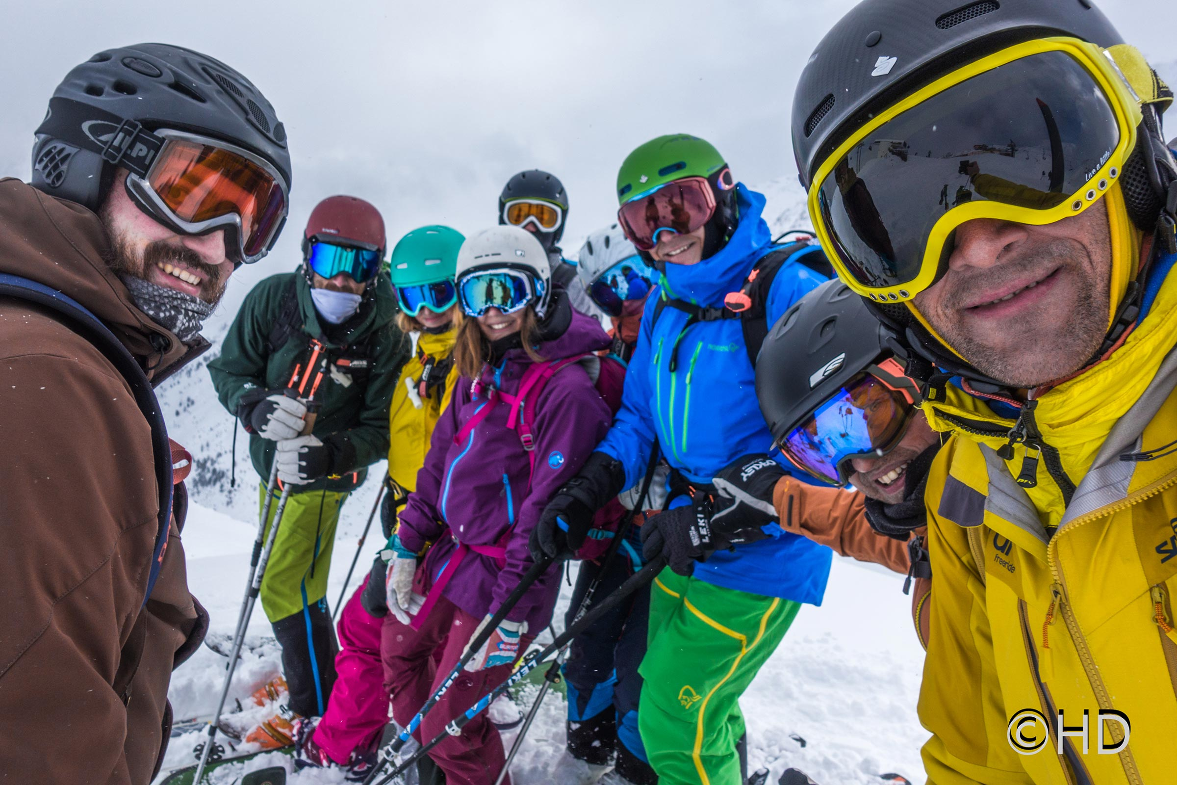 Selfie der Freeride Gruppe - Freeriden in Sölden