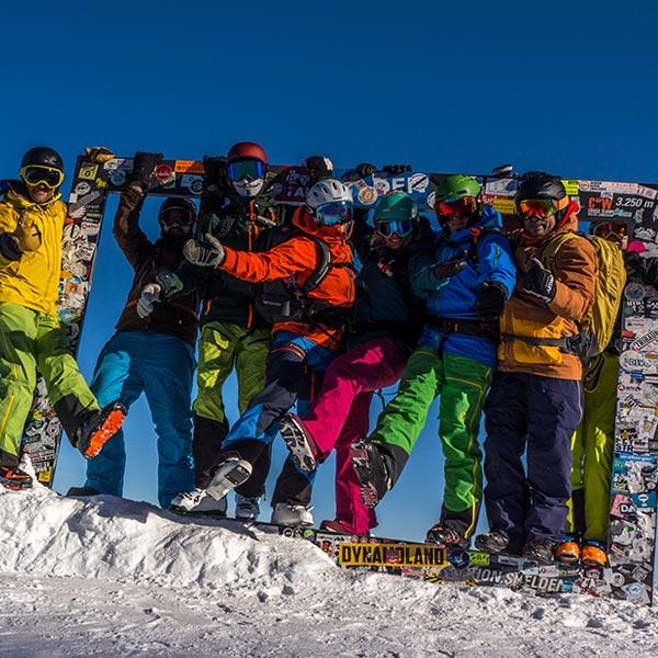 Gruppenfoto Freerider - Freeriden in Sölden