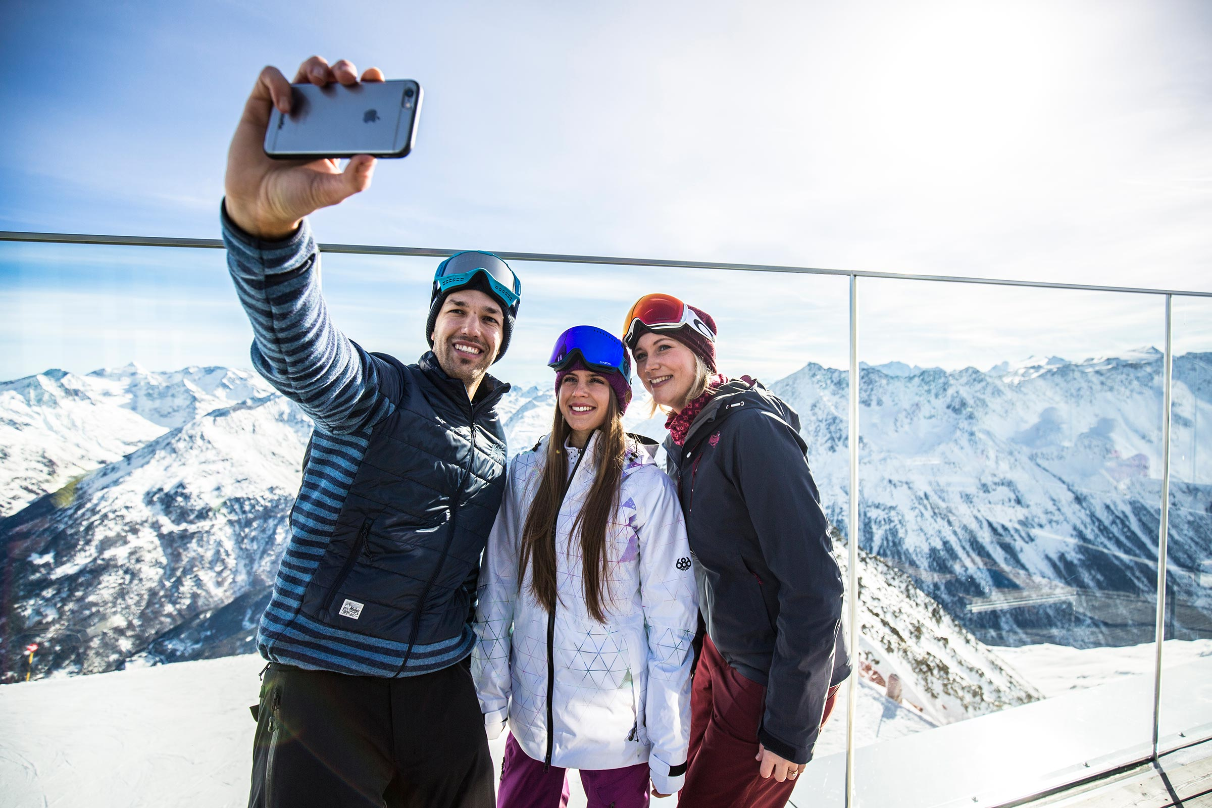 Selfie am ice Q - Skigebiet Sölden