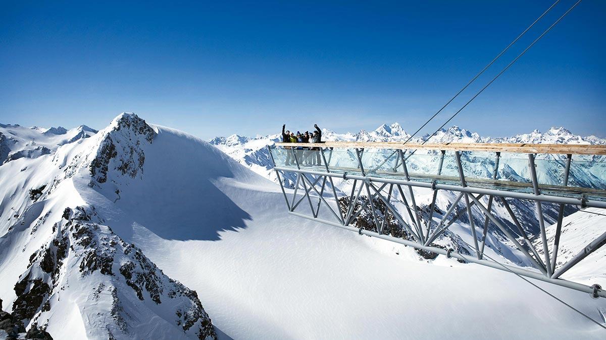Big 3 Aussichtsplattform - Skigebiet Sölden