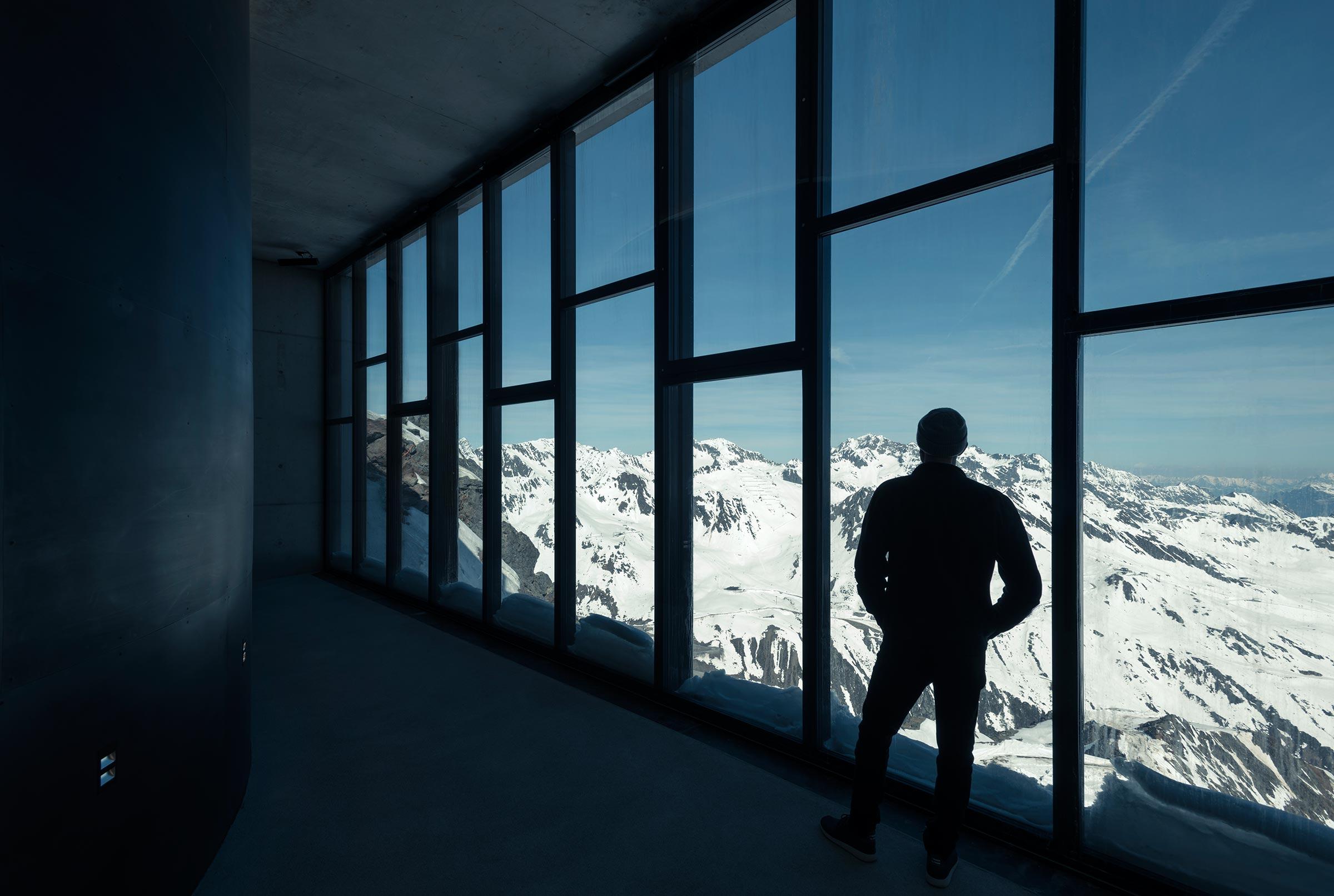 Blick von 007 Elements auf Gletscherstraße - 007 Elements Sölden