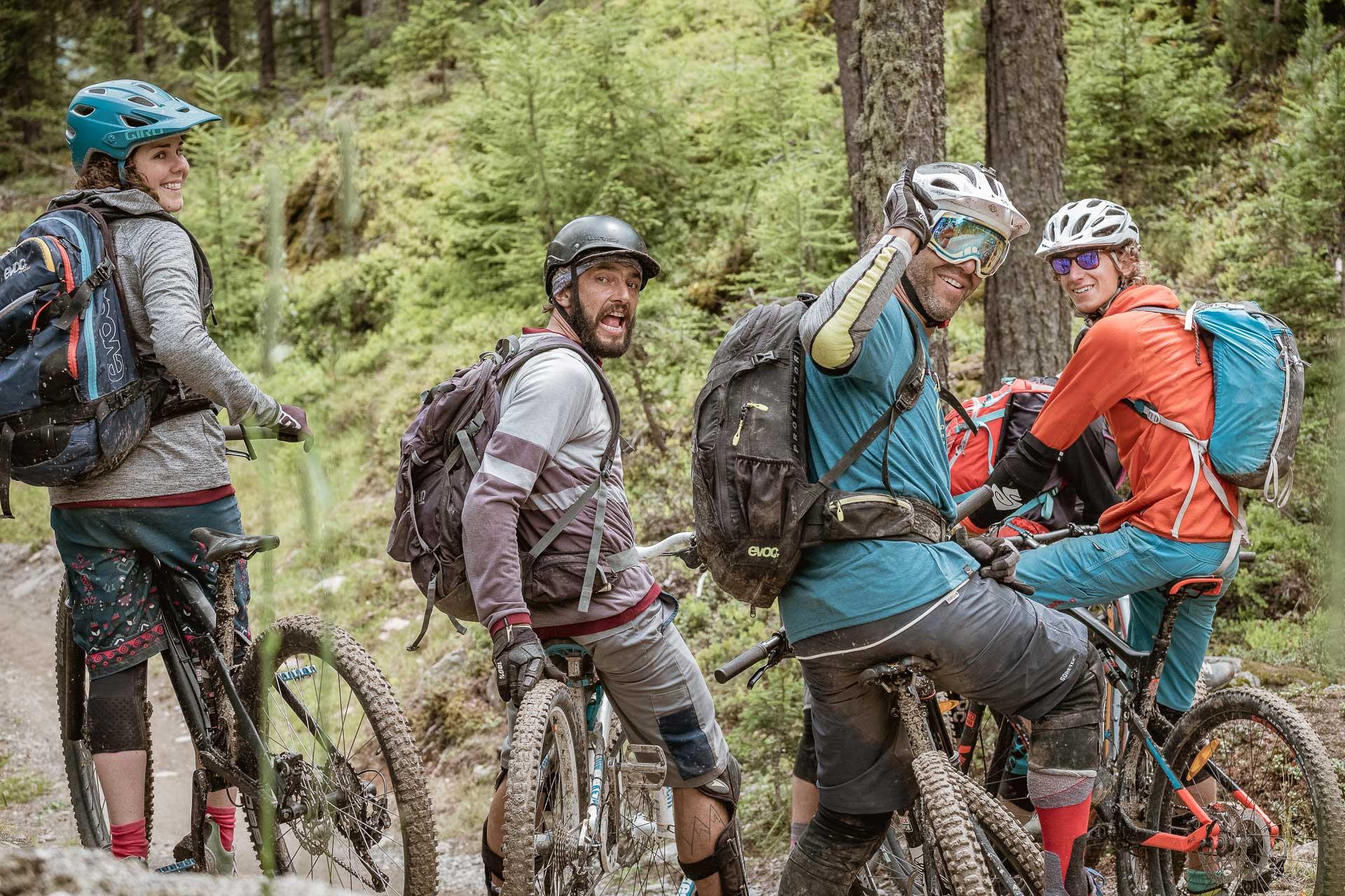 Matsch und gute Laune auf dem Bike - Bike Republic Sölden