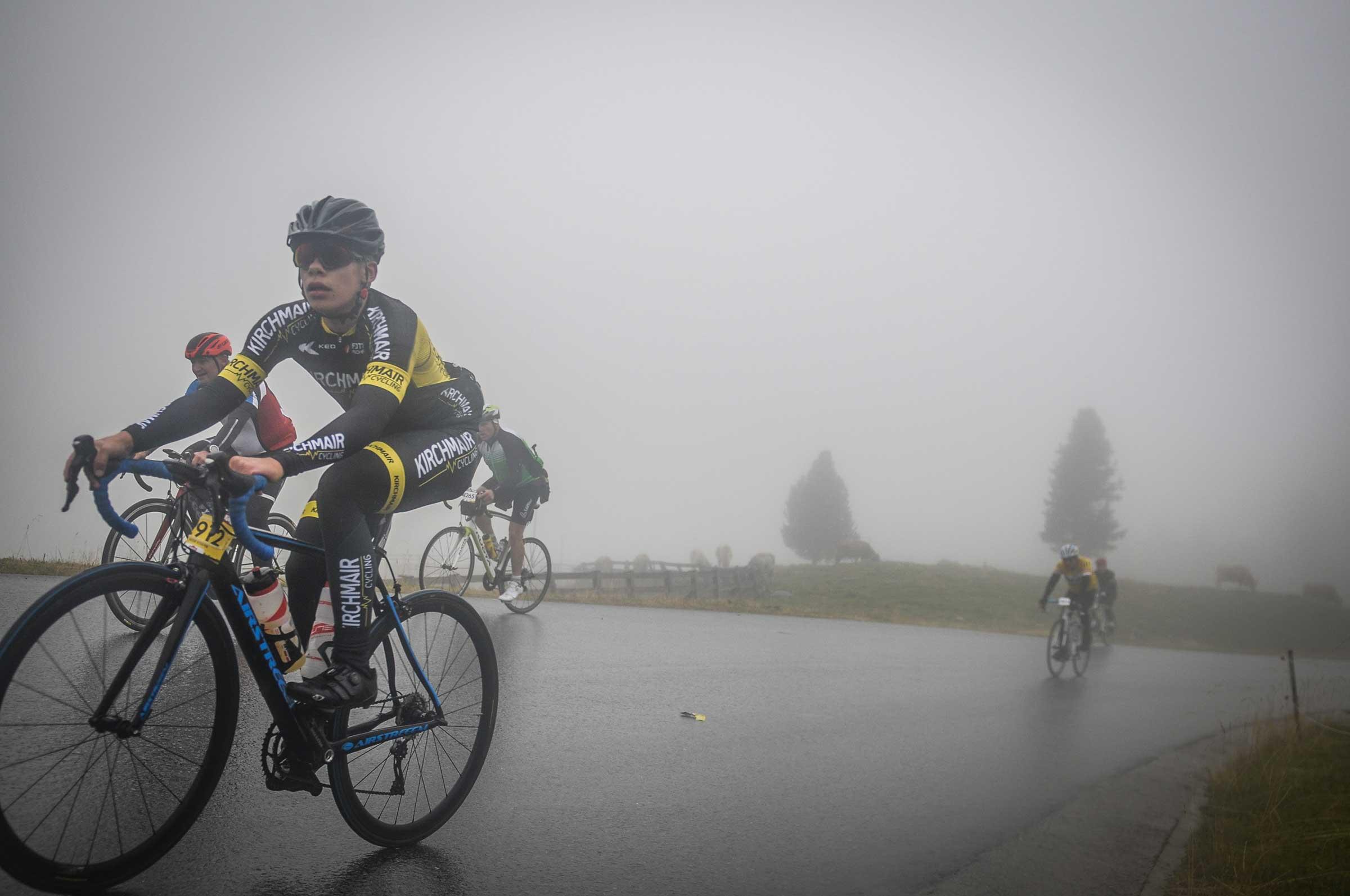 Fiedje Schäfer im Nebel - Ötztaler Radmarathon